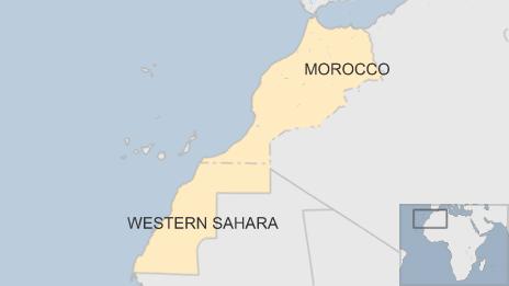 Map of Morocco and Western Sahara