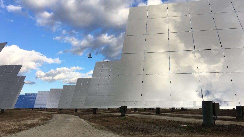 Paneles solares en Gemasolar España