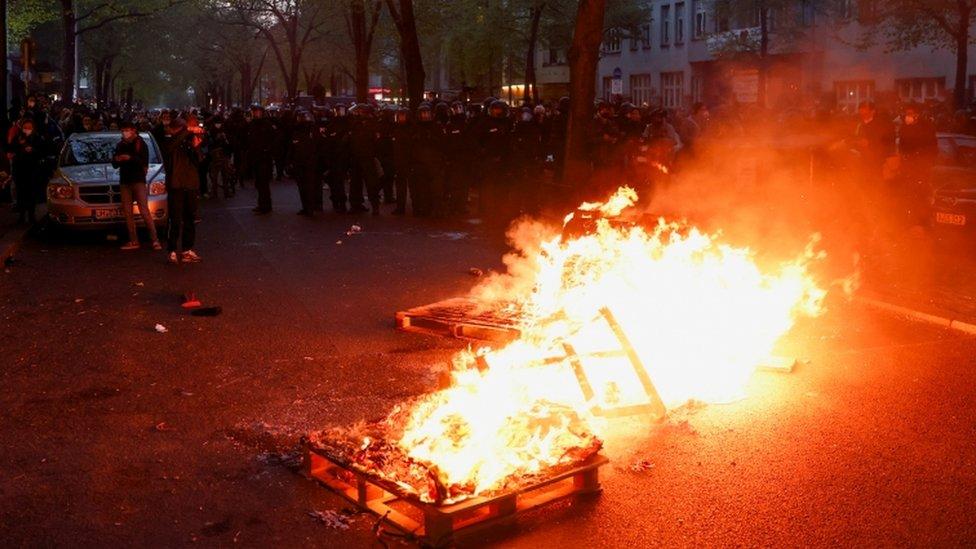 protesta en Berlin