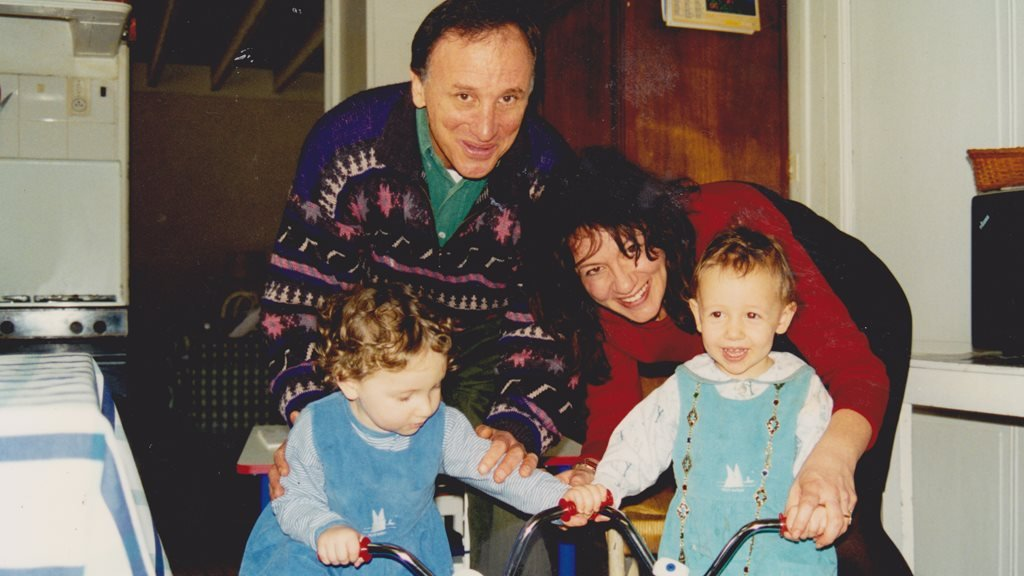 Daniel Antopolsky and his family in 1995