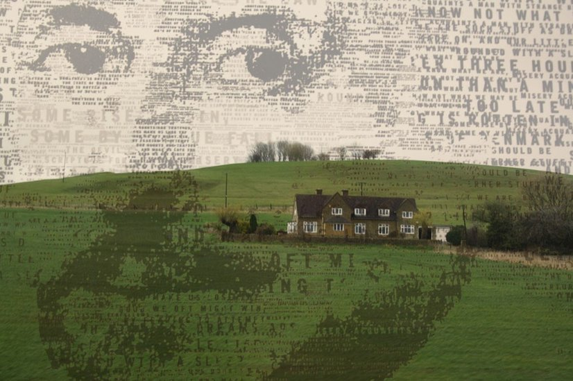 Composite picture of Shakespeare and Stratford Upon Avon
