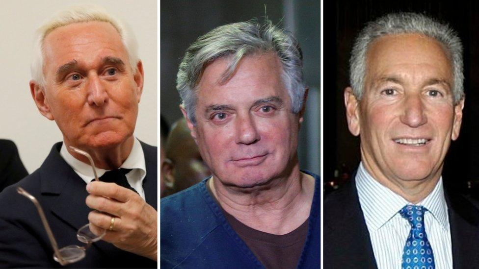 Roger Stone, Paul Manafort, Charles Kushner