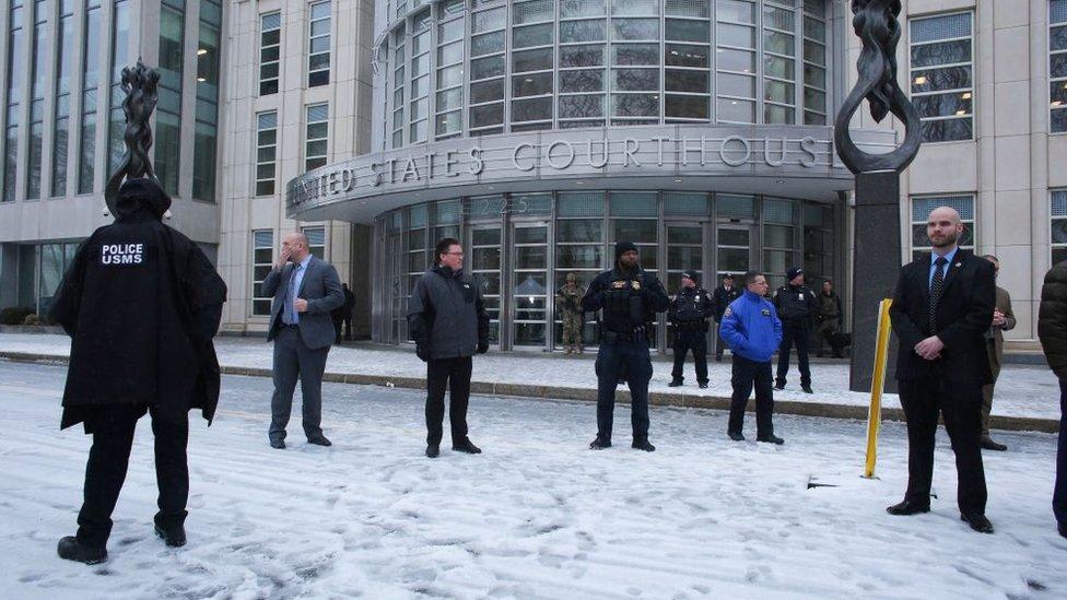 Corte de Estados Unidos donde se enjuició a El Chapo.