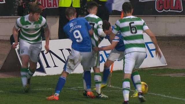 St Johnstone and Celtic players