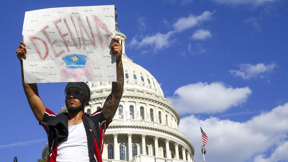متظاهر قرب البيت الأبيض