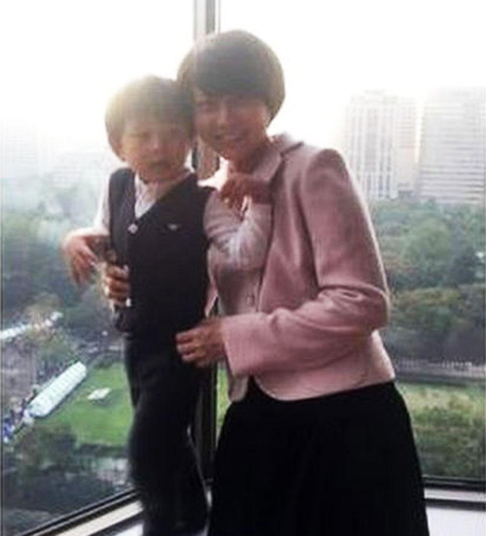 Mao Kobayashi and her son