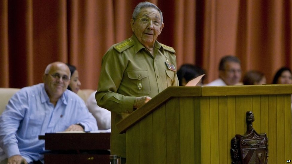 Cuba's President Raul Castro addresses the National Assembly in Havana, Cuba, Wednesday, July 15, 2015.