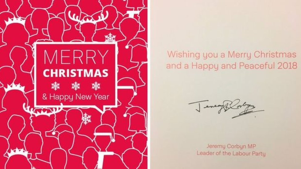 Jeremy Corbyn's Christmas card