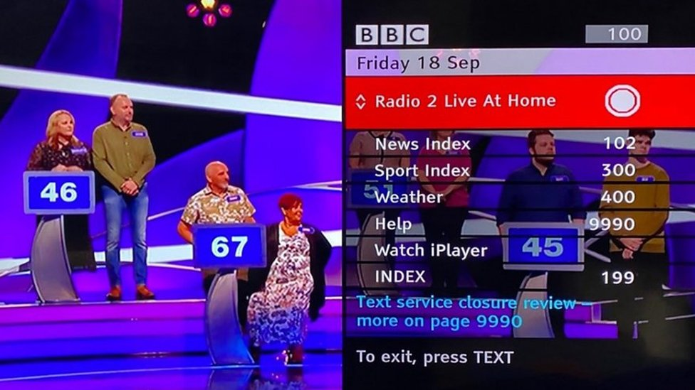 Some people without online access still use red button services, using their TV remote control