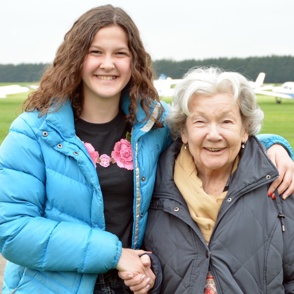 Matilda (L) and her grandmother Mollie (R)