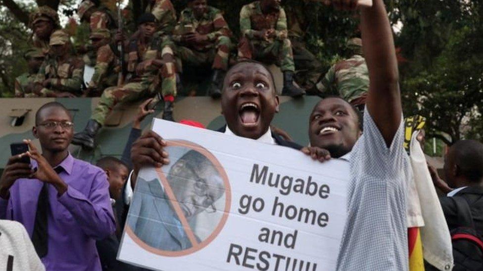 تظاهرات ضد موغابي