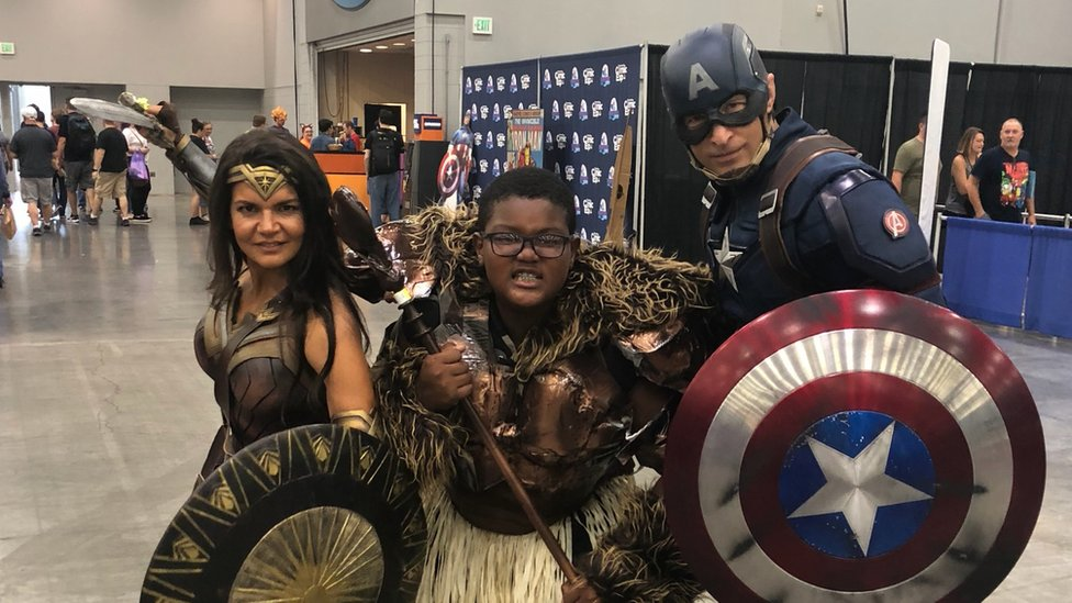 Boy dresses like Black Panther hero 'to feel like himself'