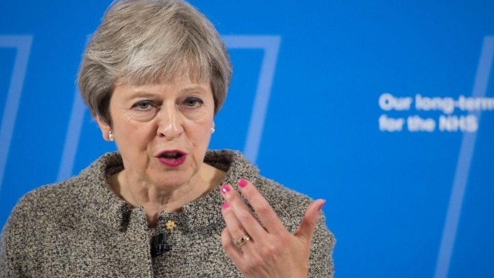 Theresa May is asked where NHS cash will come from