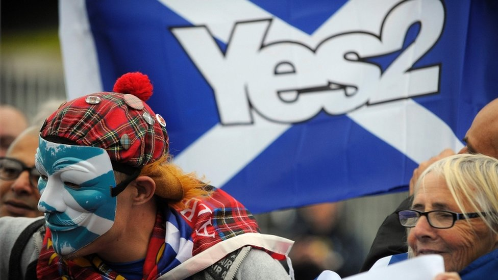 pro-independence campaigners
