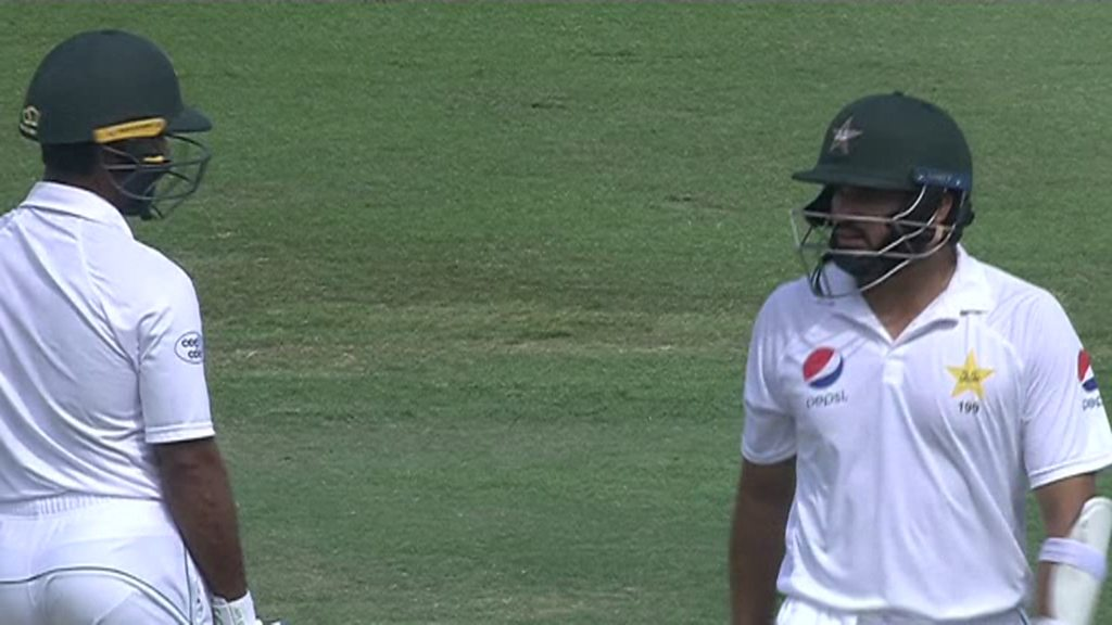 Watch: Pakistan batsman run out in bizarre circumstances