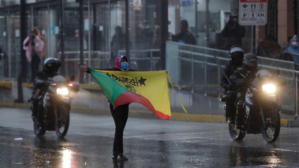 Huelga nacional en Quito, Ecuador, contra el gobierno