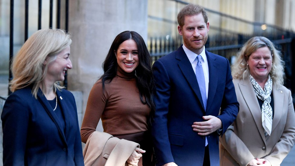 prince harry and meghan to step back as senior royals bbc news bbc com