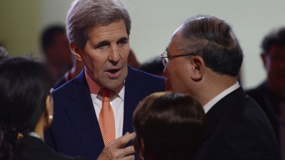 US Secretary of State John Kerry at the Paris Climate Summit (Getty Images)