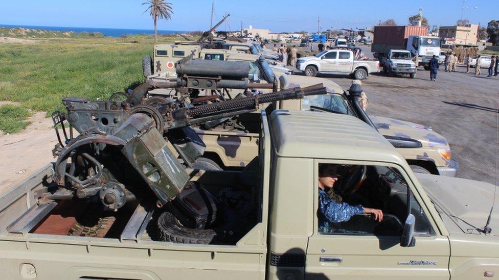 قوات من مصراته تصل إلى طرابلس للمشاركة في مواجهة قوات حفتر
