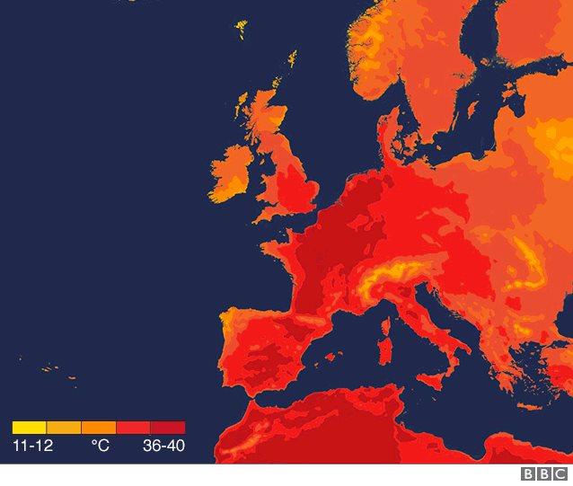 Avrupa sıcak hava