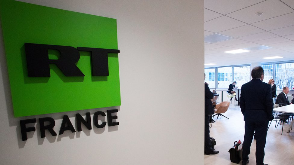A photo of RT's French bureau