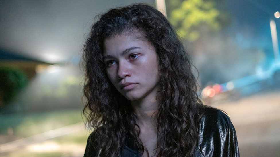 Zendaya playing a teenager in Euphoria actors playing teenagers
