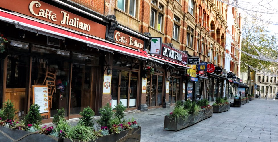 Restaurants in London's Leicester Square