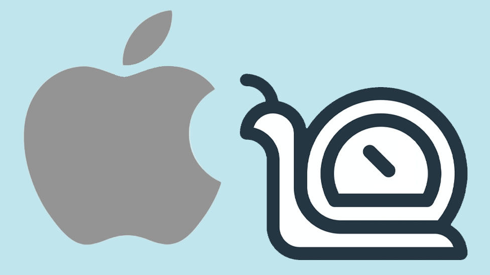 Apple and snail logo