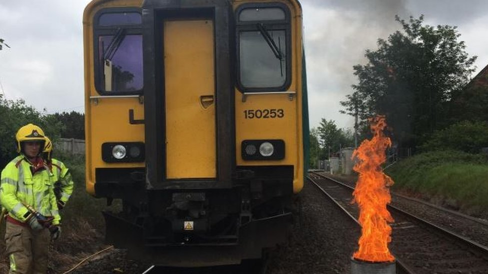 Passengers evacuated as train catches fire in Willaston