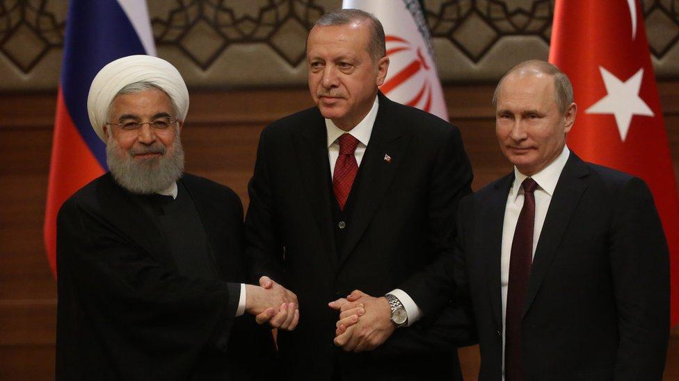 Ruhani, Erdoğan ve Putin