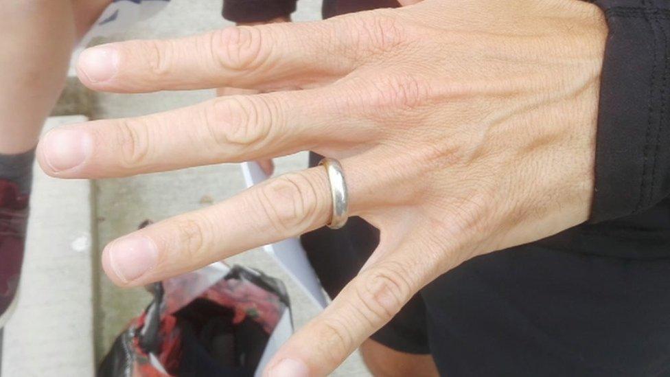 Lost wedding ring found as Marine Lake drained