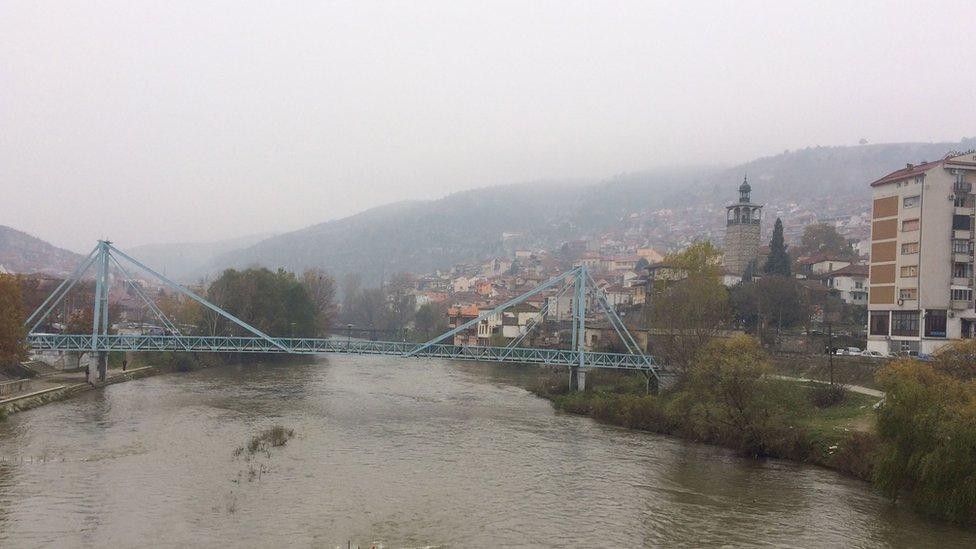 River and bridge in Veles