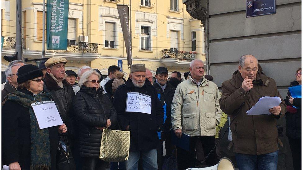 Okupljeni na protestu