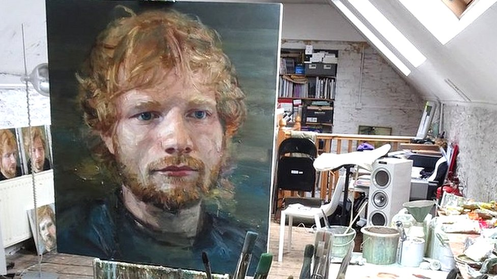 BBC News - Ed Sheeran 'coming home' exhibition curated by dad