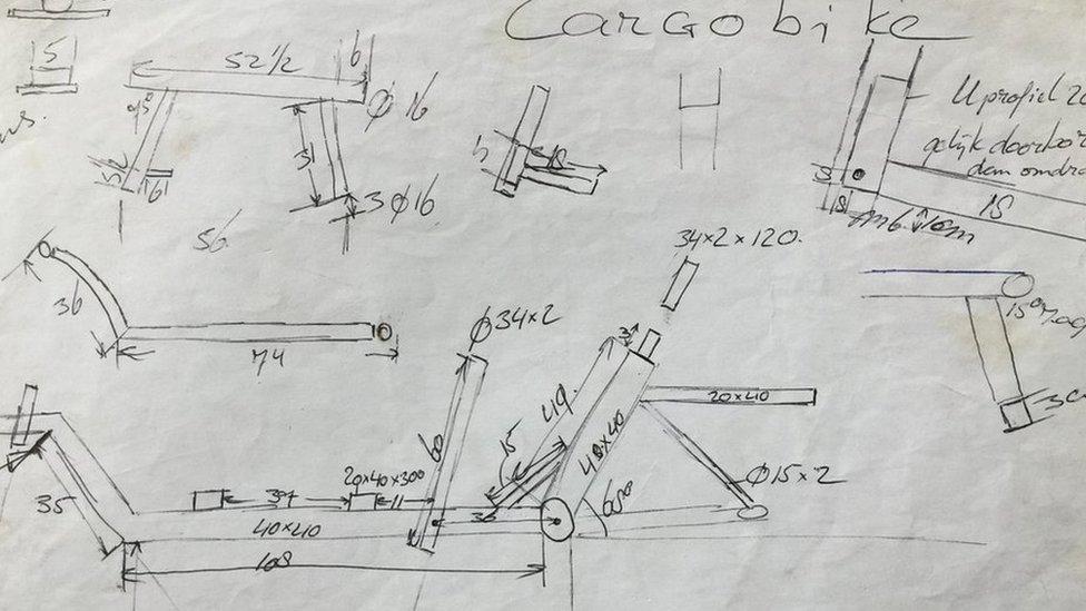 box bike sketch