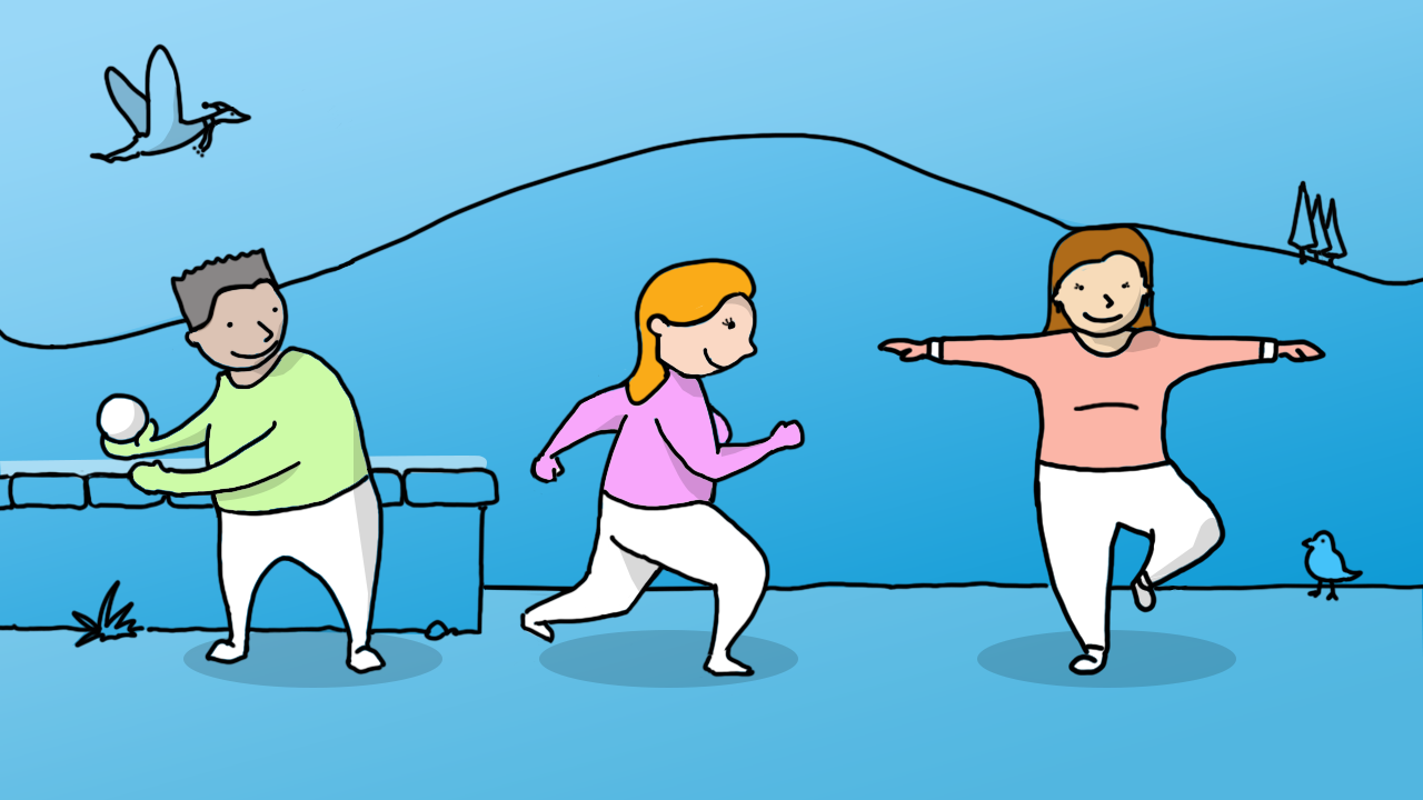 Illustration of get moving
