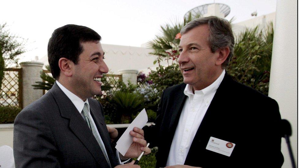 باسم عوض الله وريتشارد آتياس رئيس شركة لتنظيم المؤتمرات والحفلات - 2006