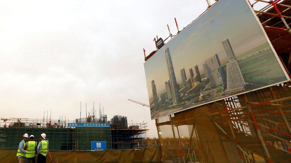 مشهد لإنشاءات في العاصمة الإدارية الجديدة