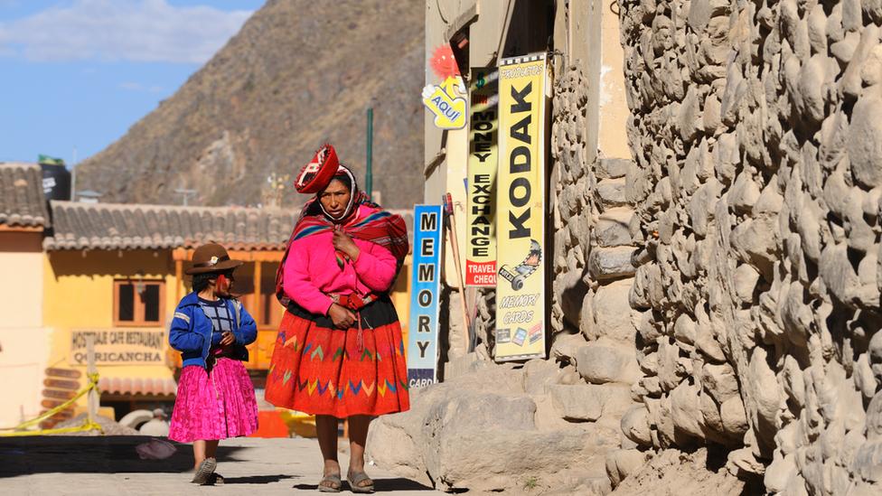 Quechua family, near Cusco, Peru