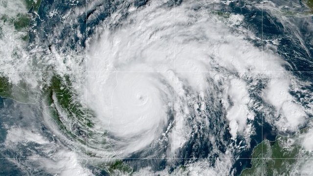 Vista del huracán Iota el 16 de noviembre.