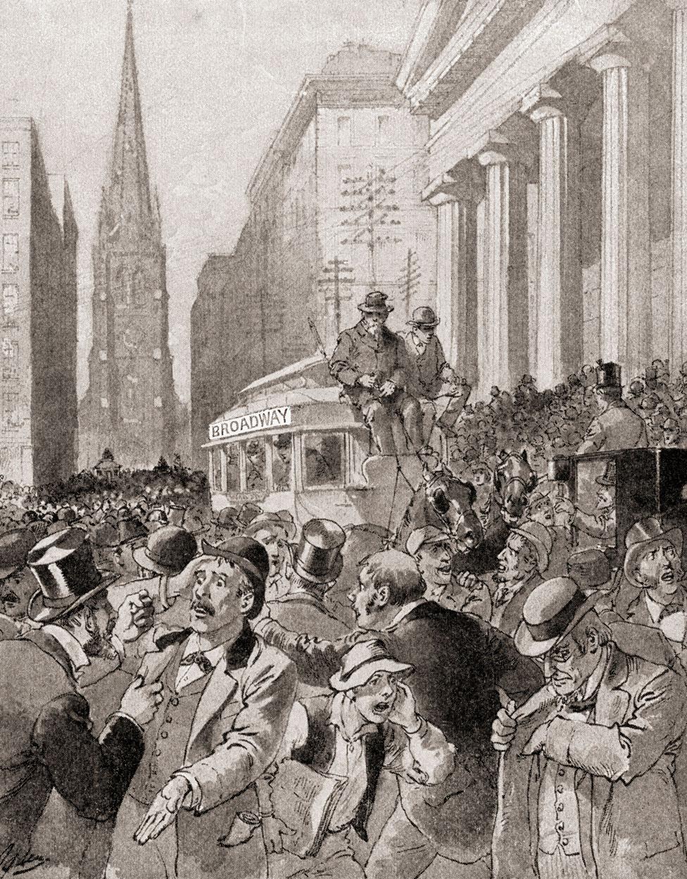Una ilustración del pánico y la desolación durante el famoso Viernes Negro.