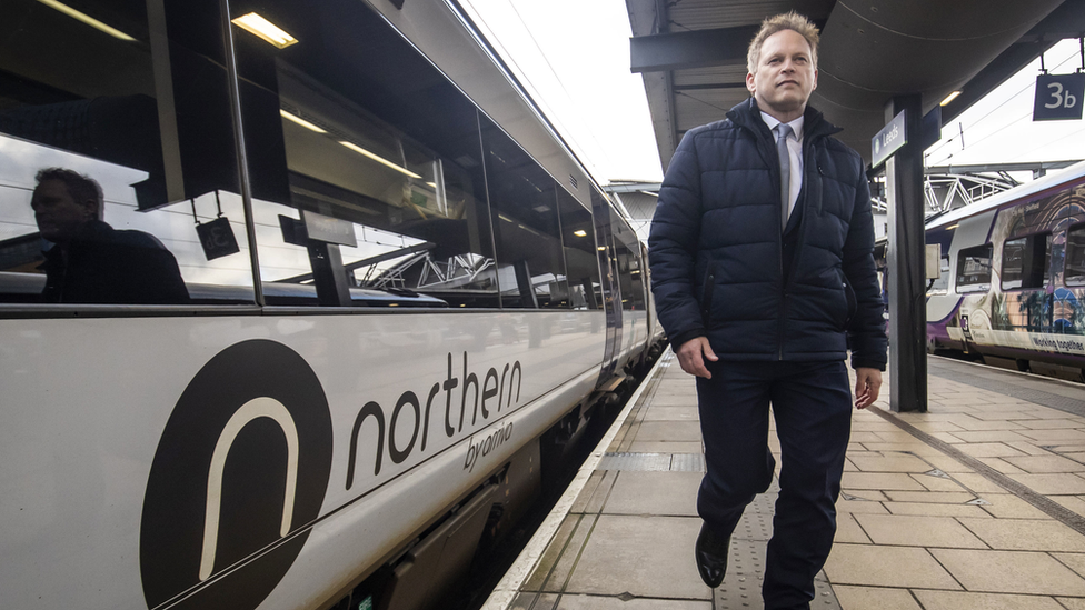 Transport Secretary Grant Shapps visits Leeds Train Station