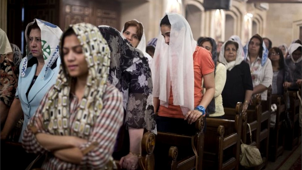 Coptic Christians in Cairo (file photo)