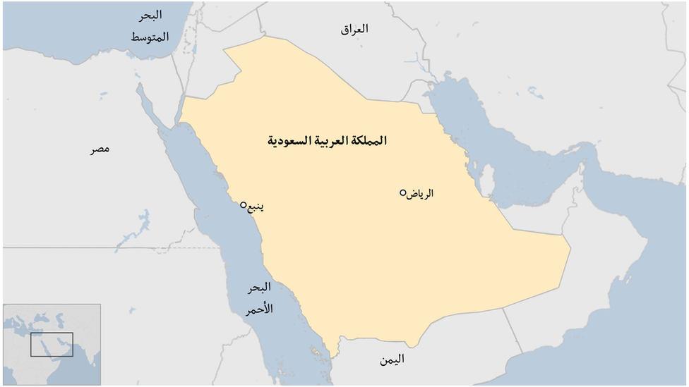 خارطة المملكة العربية السعودية
