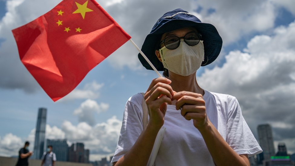 親北京人士認為《國安法》可以令香港穩定。