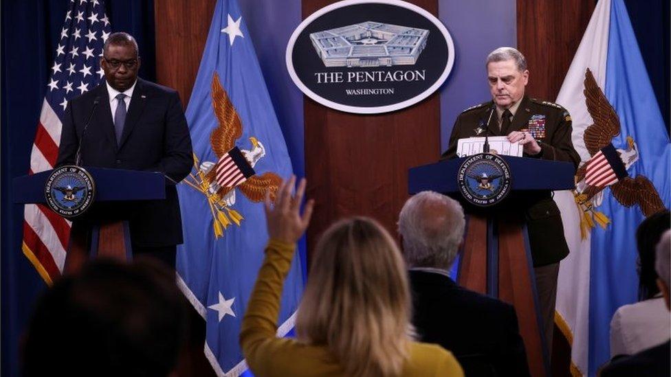 ABD Savunma Bakanı Lloyd Austin ve ABD Genelkurmay Başkanı Mark Milley