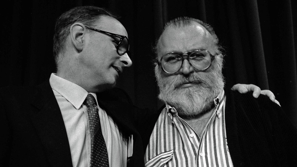 Ennio Morricone and Sergio Leone in 1984