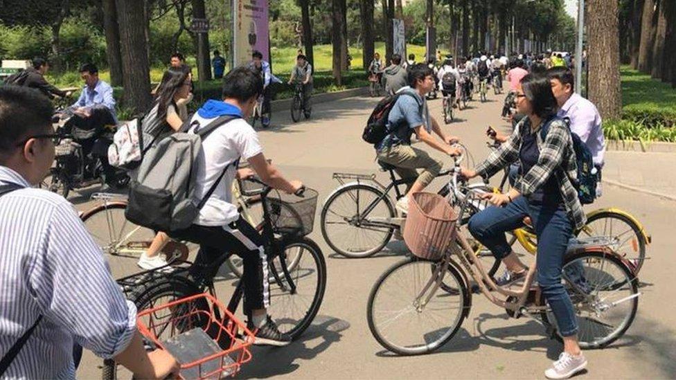 Bicicletas compartidas en Shanghái