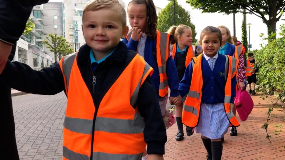 School run: How Cardiff primary is transforming pupils' commute
