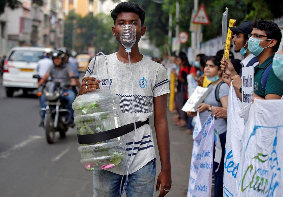 Protesters in Kolkata